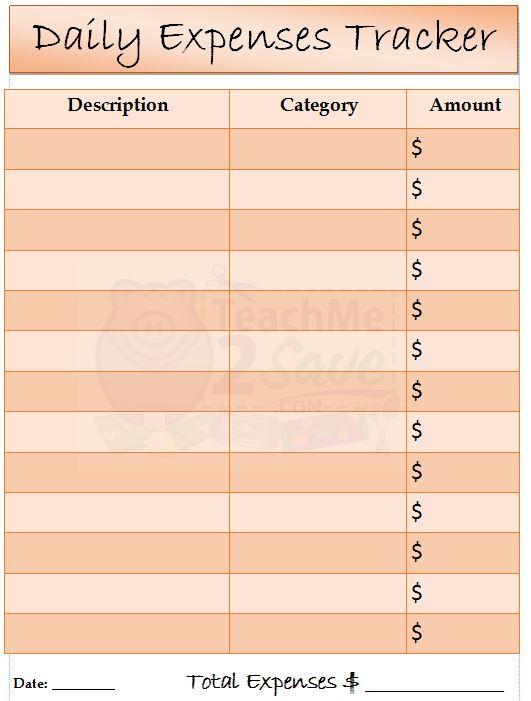 printable expense log - Alannoscrapleftbehind