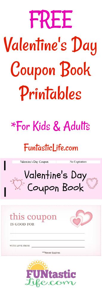 FREE Valentine\u0027s Day Coupon Book Printables - Funtastic Life
