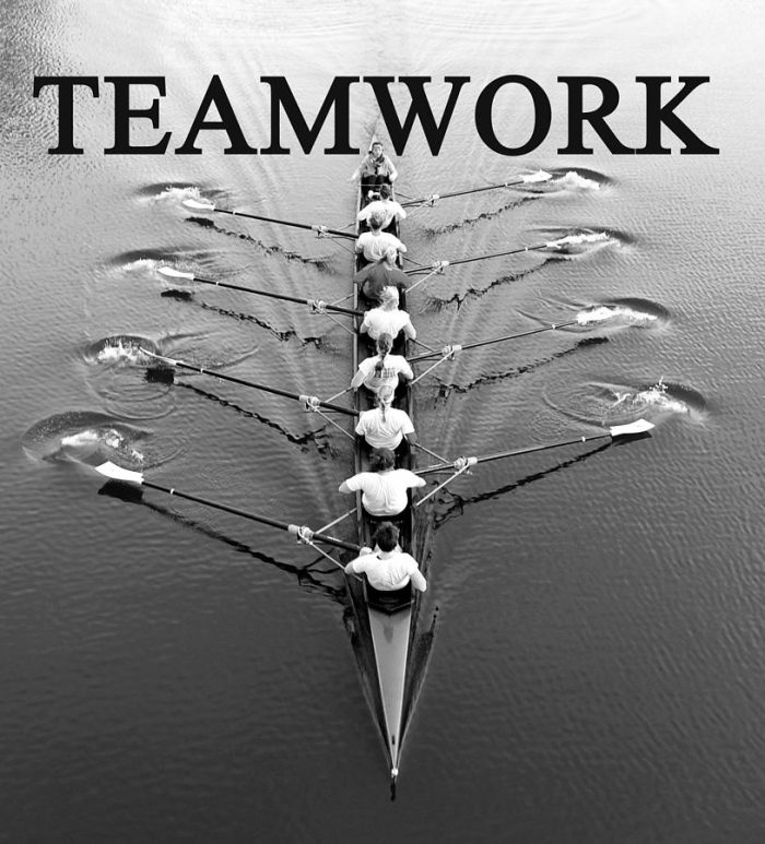 Teamwork and Rowing Team Building - an example of teamwork