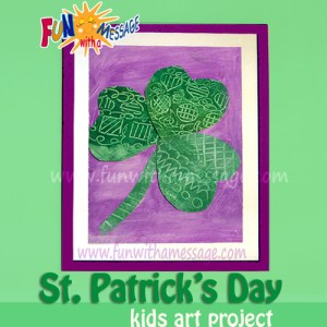 St. Patrick's Day kids Art framed