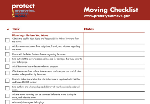 Moving Check list - Funxion