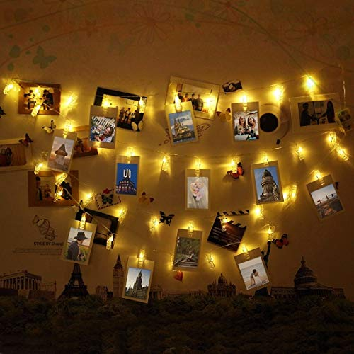Lichterkette Wand Foto Clips Lichterkette, Infinitoo 40 Led Foto