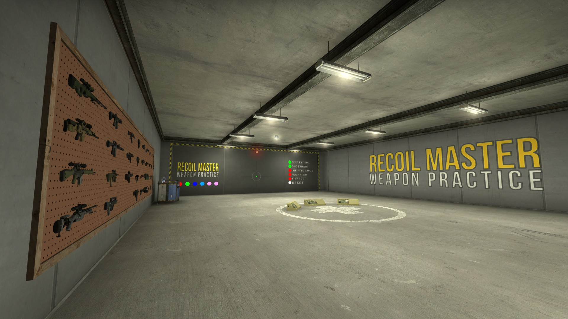 Recoil master weapon practice