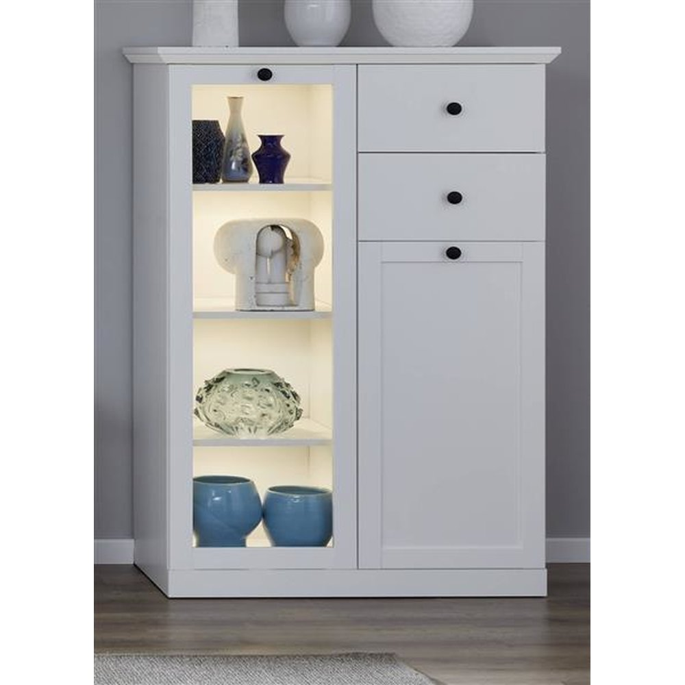 Highboard Landhaus Günstiges Highboard Baxter Weiß 81 Cm > Furn-direct24, € 239,99