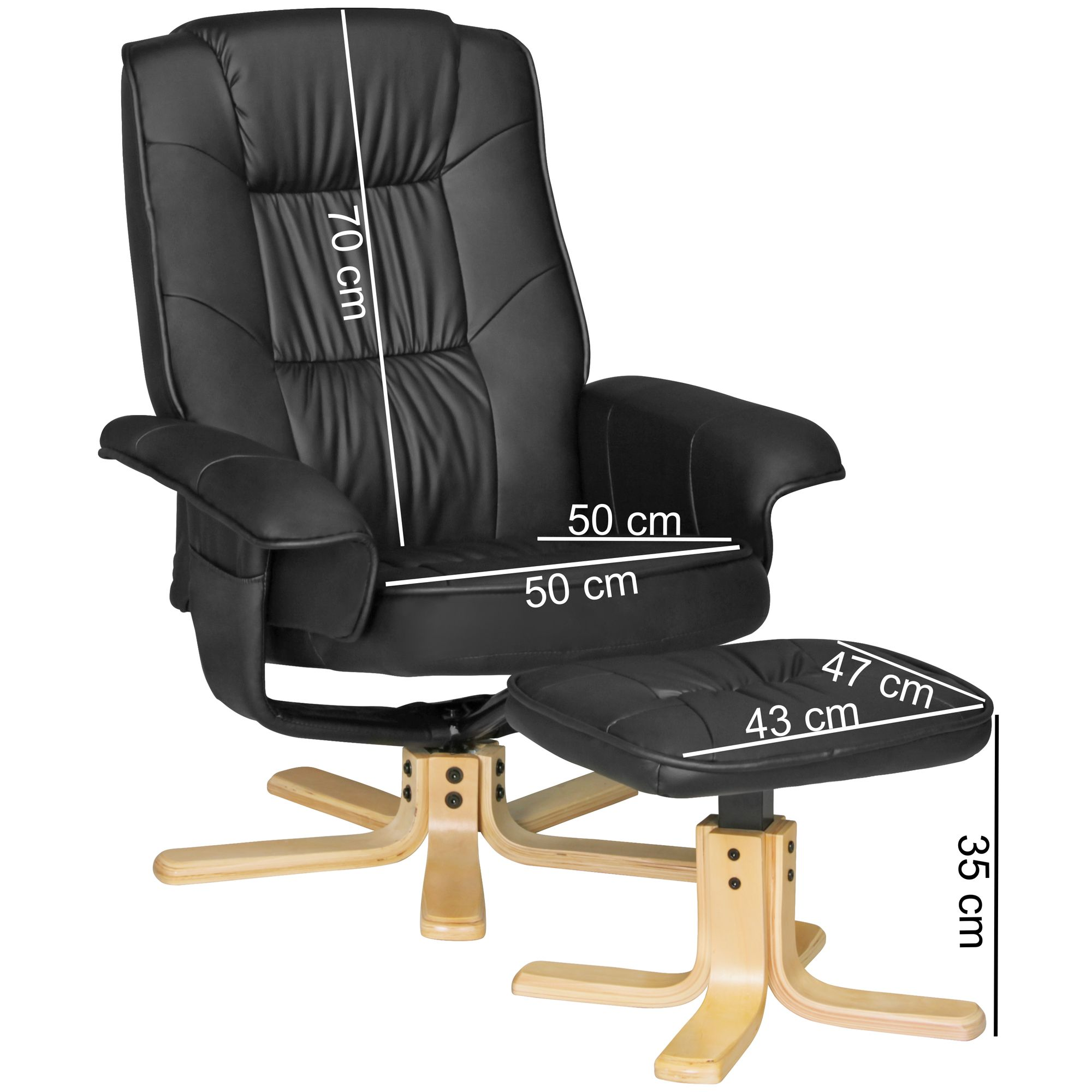Amstyle Fernsehsessel Comfort Tv Design Relax Sessel