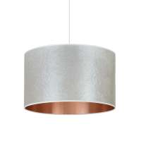 Pearl grey copper drum shade | Pendant lights