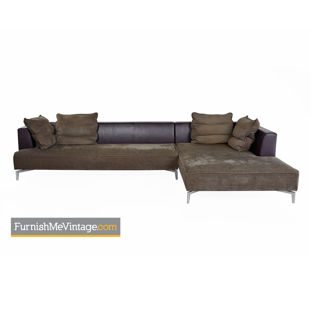 Console Ligne Roset Ligne Roset Sectional Sofa With Chrome Leg Base
