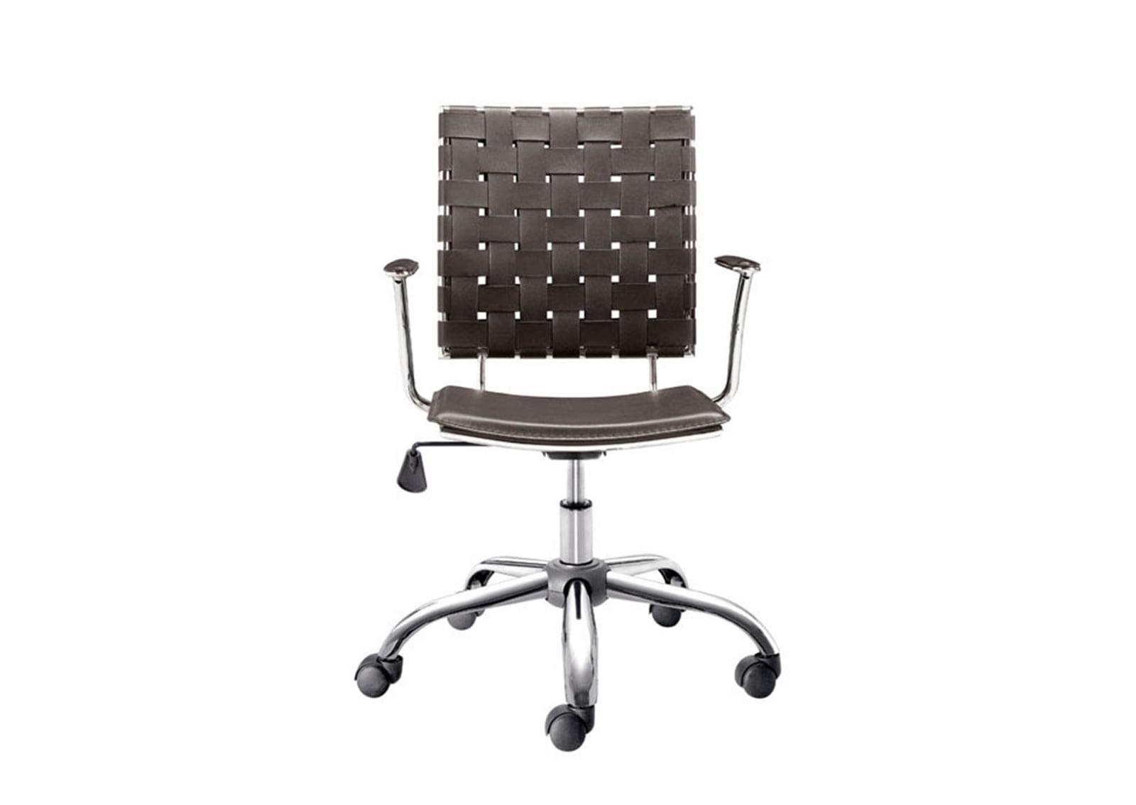 Criss Cross Office Chair Espresso Furnishplus