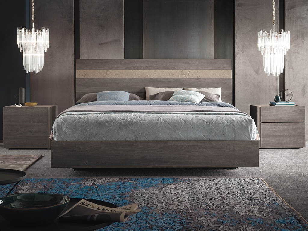 Alf Italia Nizza Cal King Bed Frame Furnitalia Contemporary Italian Furniture Showroom