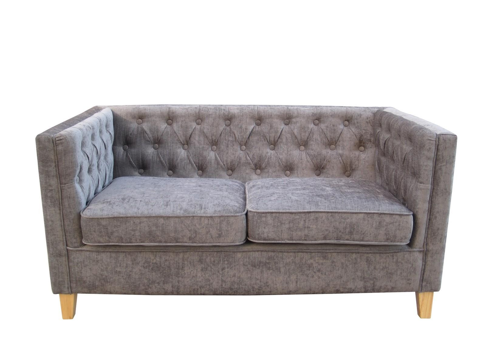 York 2 Seater Grey Chenille Style Fabric Sofa Free Delivery - Lydia 2 Seater Sofa