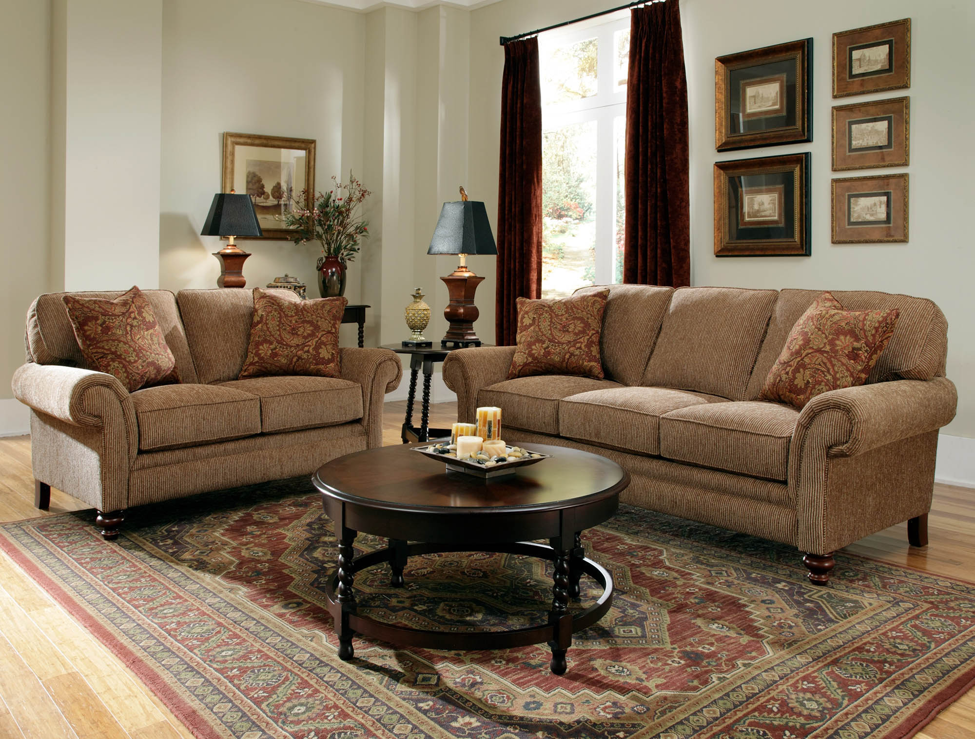 Broyhill Brown Corduroy Sofa Broyhill Larissa Sofa Home And Textiles