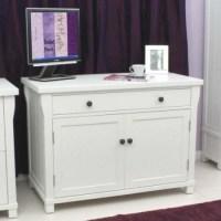 Baumhaus Hampton White Solid Ash Hideaway Desk | Furniture123