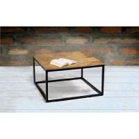 Suri Modern Industrial Modern Square Coffee Table in Mango ...