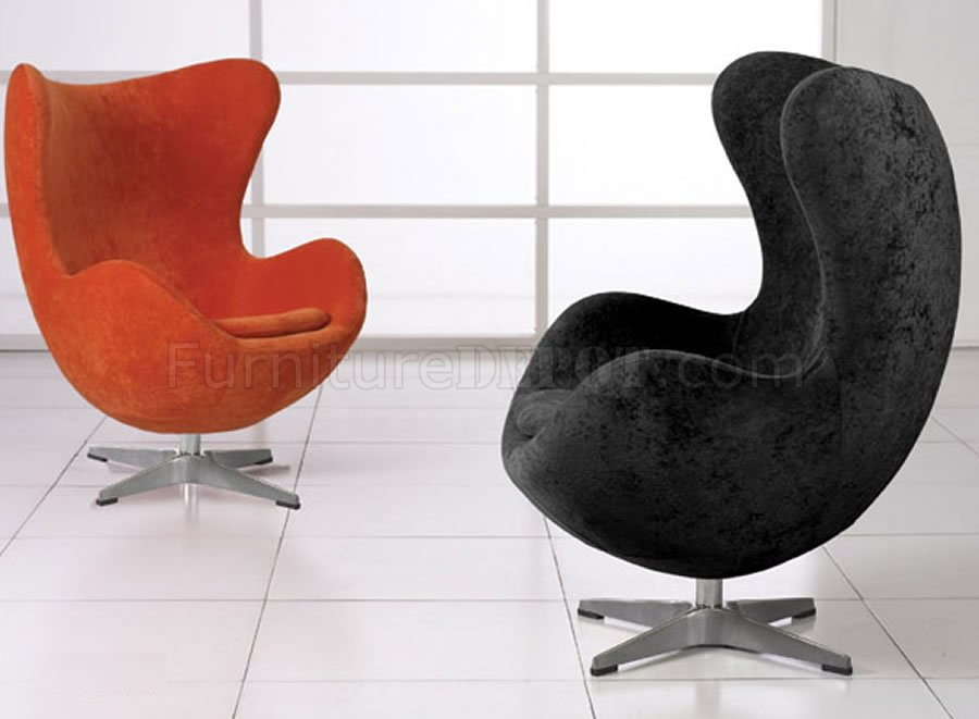 White Microfiber Modern Swivel Chair