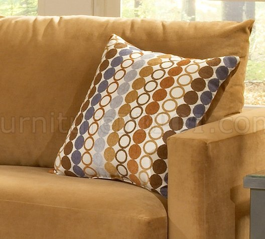 Baby Chairs Sofas Bella Cognac Fabric Sofa Loveseat Set W Hula Hoop Pillows