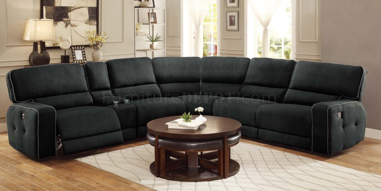 Leather Sectional Sofa Recliner Keamey Motion Sectional Sofa 8336 6lrrr By Homelegance
