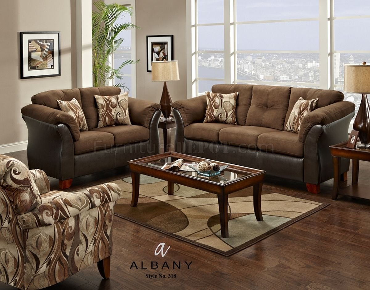 Brown Sofa And Loveseat Sets Capri Dark Brown Modern Sofa Loveseat Set W Options