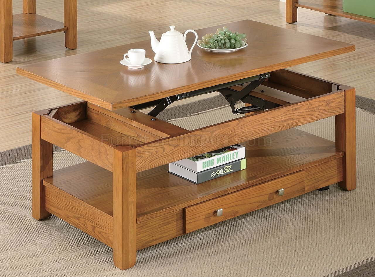 Couchtisch Buche Mit Schubladen Oak Finish Modern Lift Top Coffee Table W/options