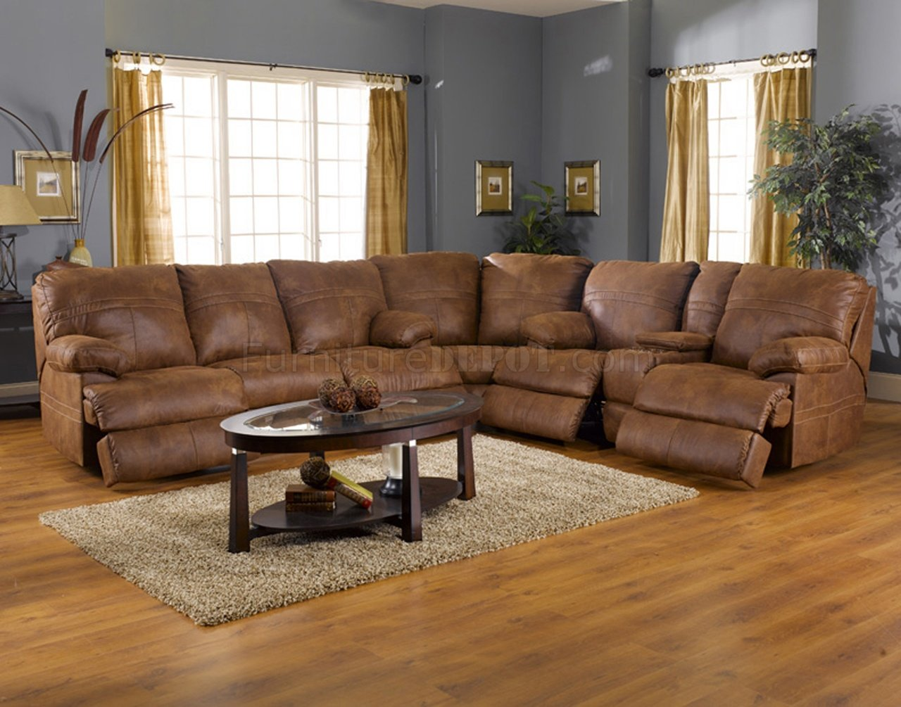 Leather Sectional Sofa Recliner Rich Tanner Faux Leather Fabric Ranger Modern Sectional Sofa