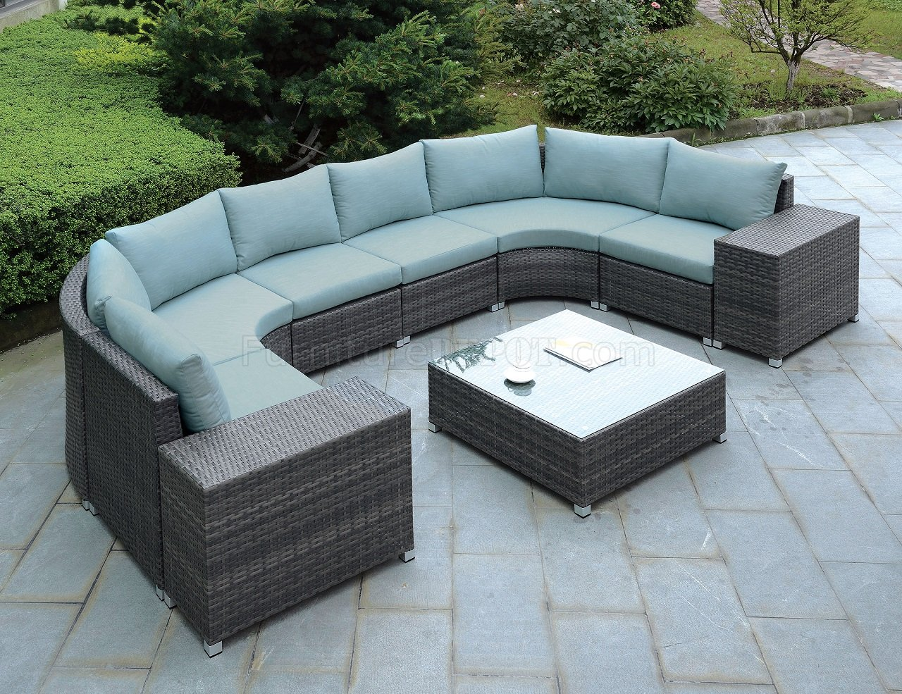 Outdoor Couches Morgana Cm Os2121 U Outdoor Patio Sectional Sofa W Coffee