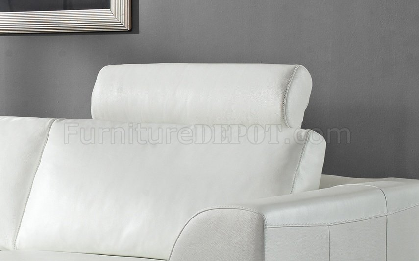 Sofa Set With Steel Legs Angela Sectional Sofa In White Leather By Whiteline