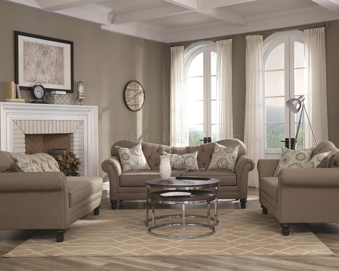 Franzoesische Sofa Sets With Separate Carnahan Sofa 505251 In Grey Fabric By Coaster W Options