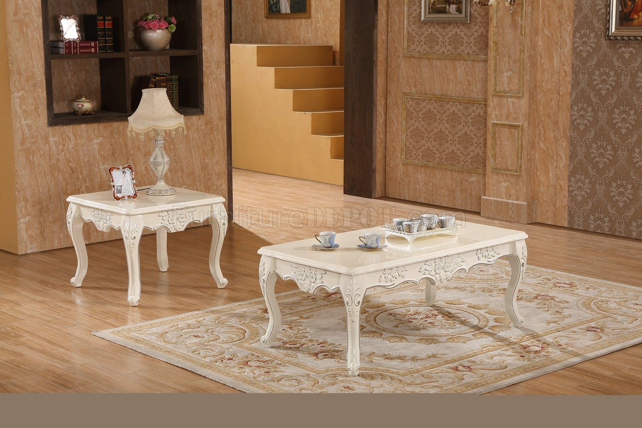 Baby Collection Silver Set Serena Coffee Table 291 In Pearl White By Meridian W Options