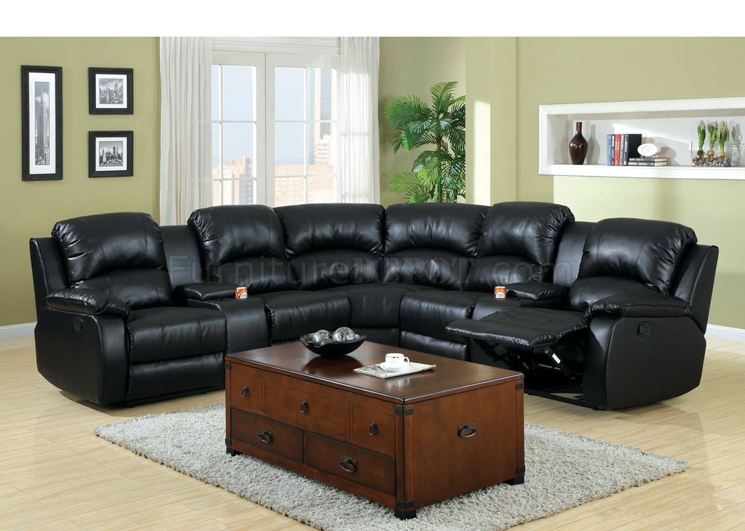 Leather Sectional Sofa Recliner Aberdeen Motion Sectional Sofa Cm6557bp Bonded Leather Match