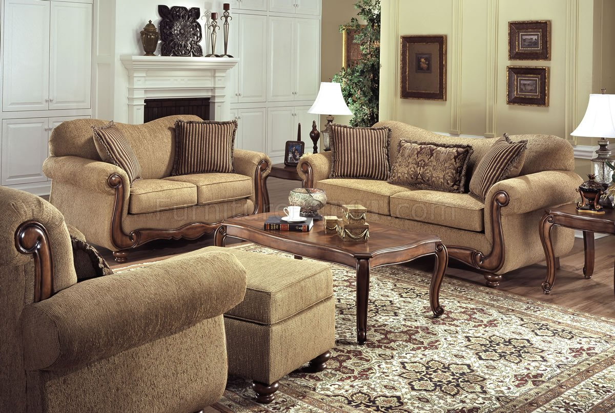 Brown Sofa And Loveseat Sets Tan Fabric Traditional Sofa Loveseat Set W Throw Pillows