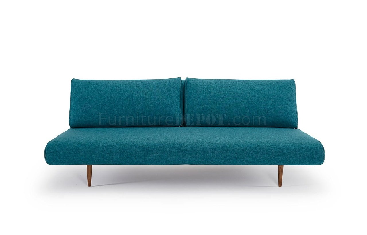 Couch Petrol Unfurl Lounger Sofa Bed In Aqua Petrol 522 By Innovation Living
