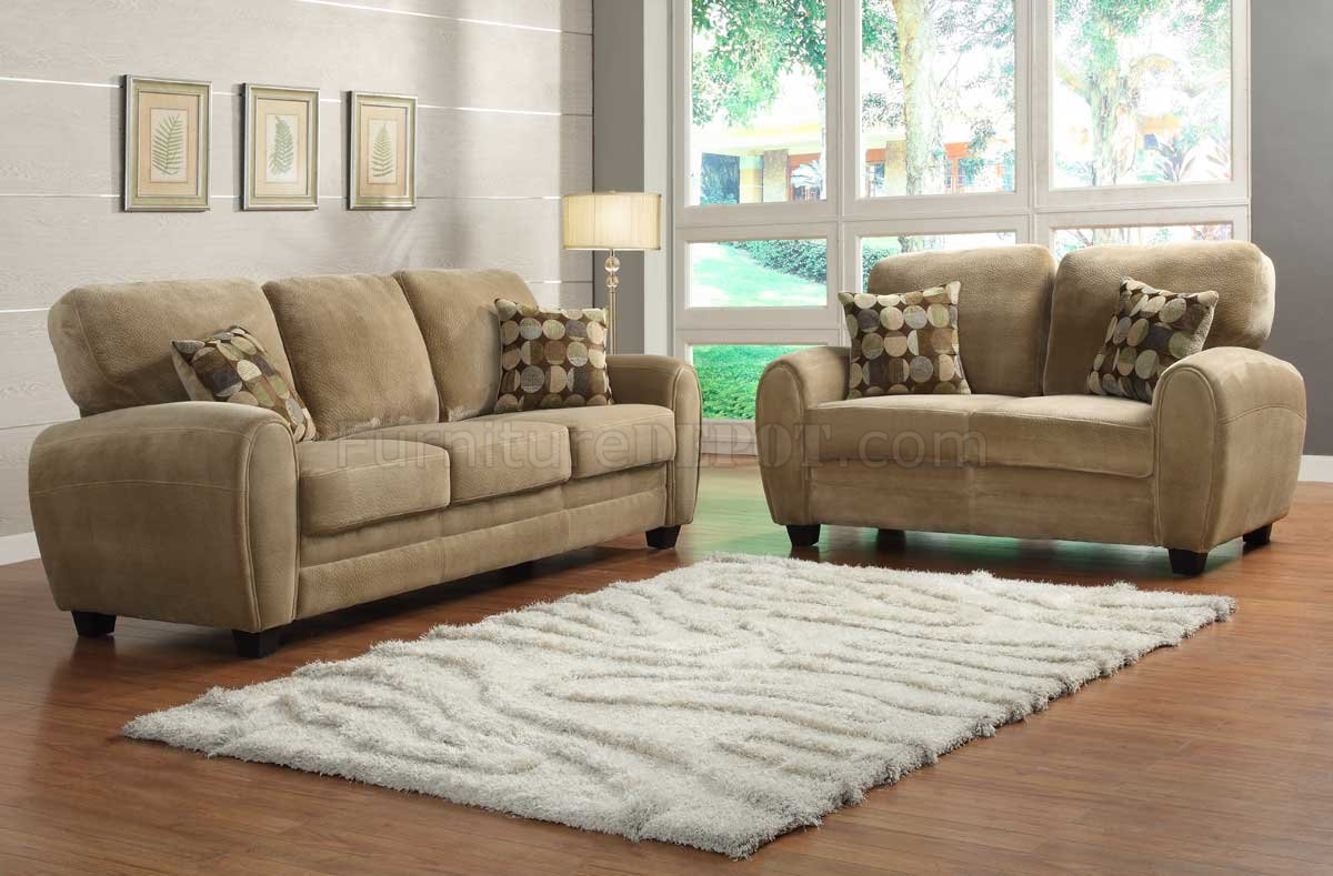 Brown Sofa And Loveseat Sets Rubin Sofa Loveseat Set 9734br By Homelegance In Light Brown