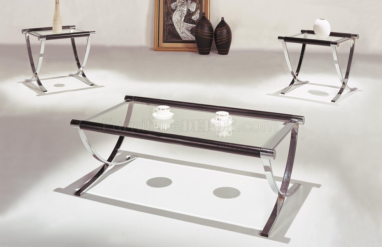 Glass End Table Top Set Of Glass Top Contemporary Coffee And End Tables W Chrome