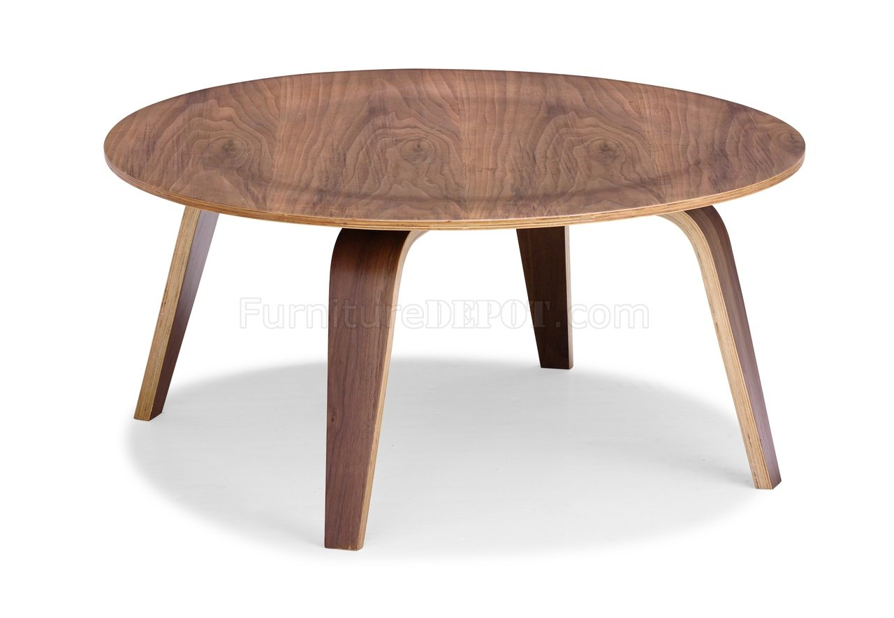 Finish Tables Walnut Finish Bent Wood Modern Coffee Table