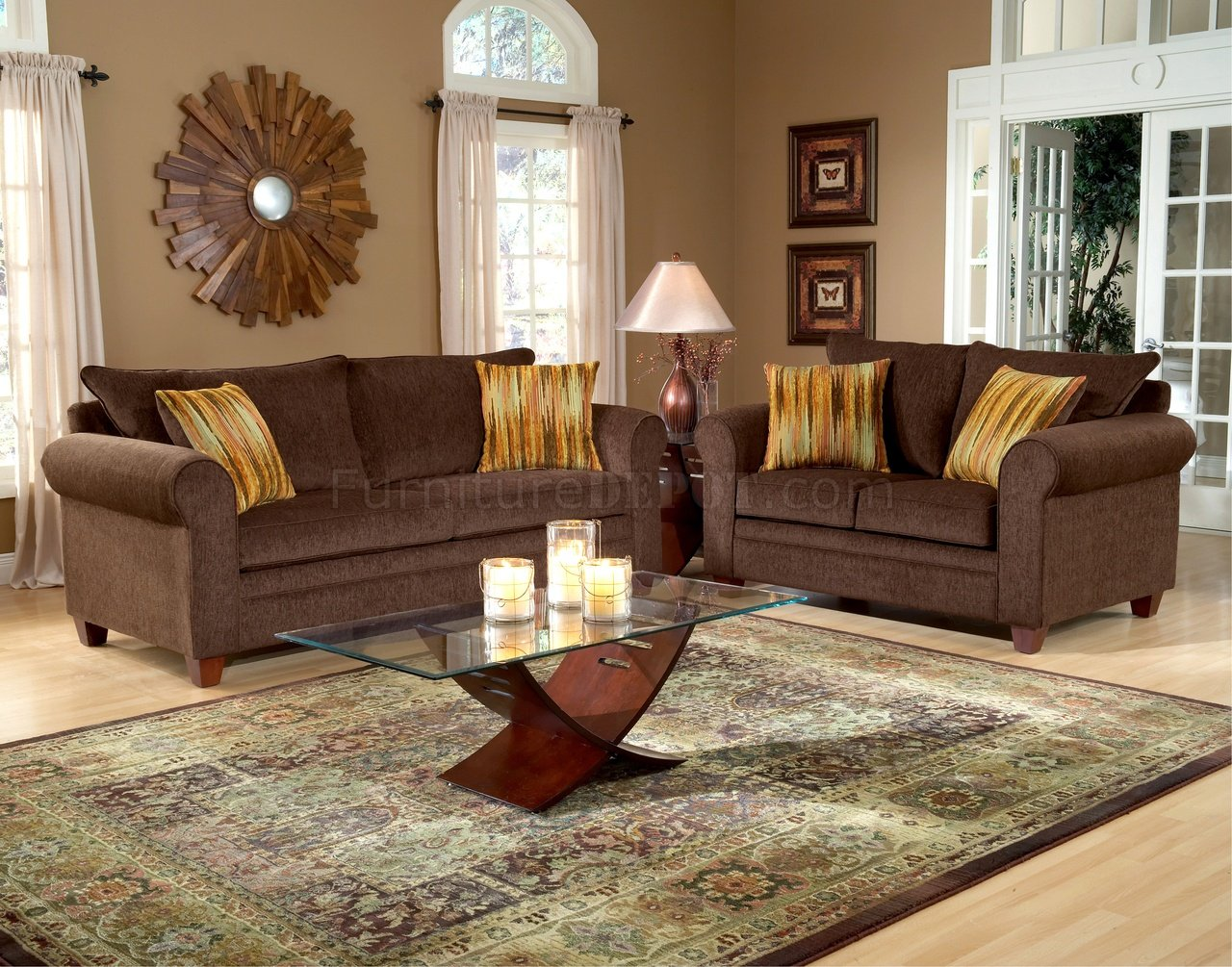 Living Room Brown Sofa Chocolate Brown Sofa And Loveseat Leather Sofa And