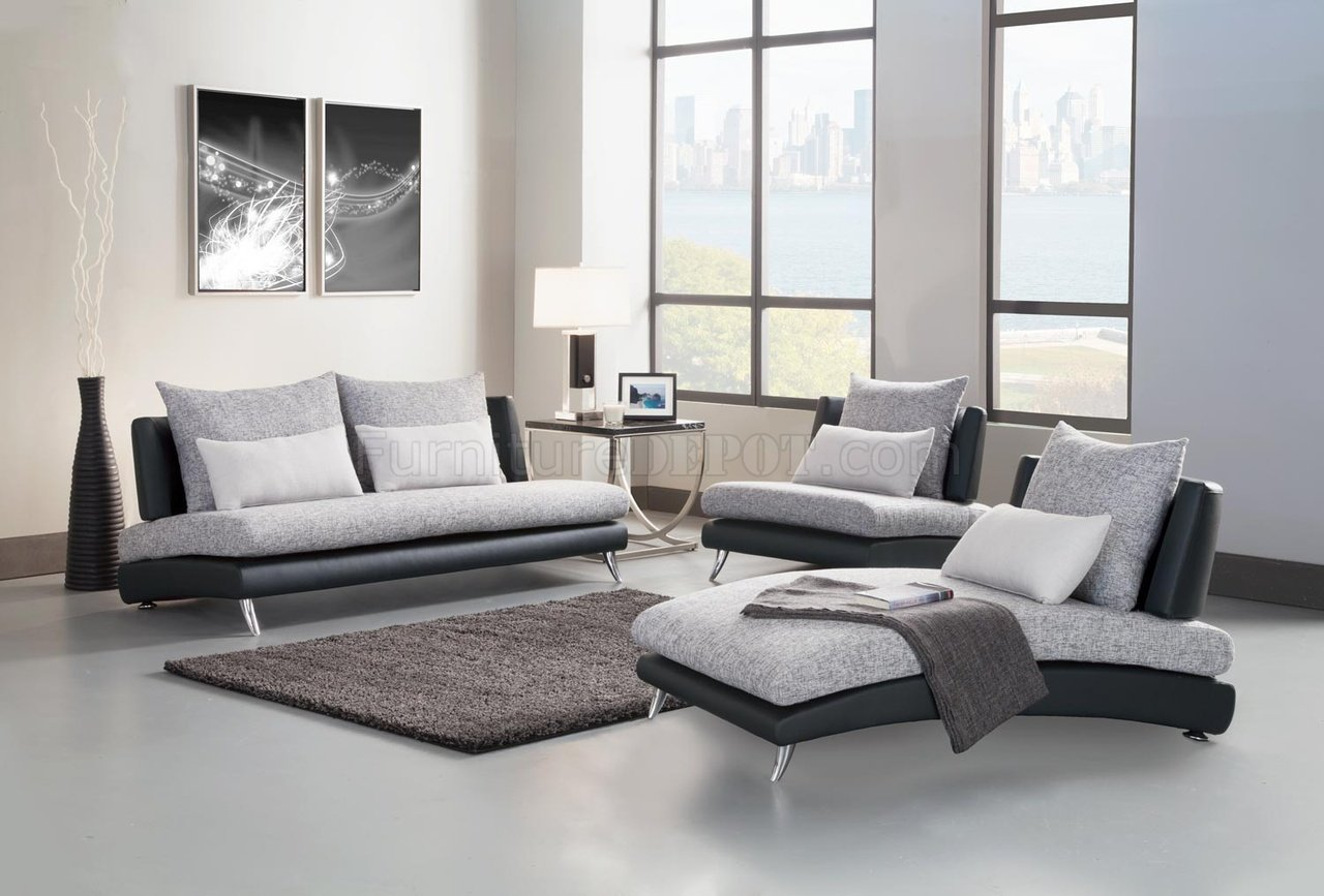 Sofa Set For Drawing Room With Price 9607 Renton Sofa In Grey And Black By Homelegance W Options
