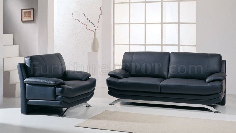 Sectional Sofas With Recliners Black Leather Contemporary Living Room Sofa With Metal Legs