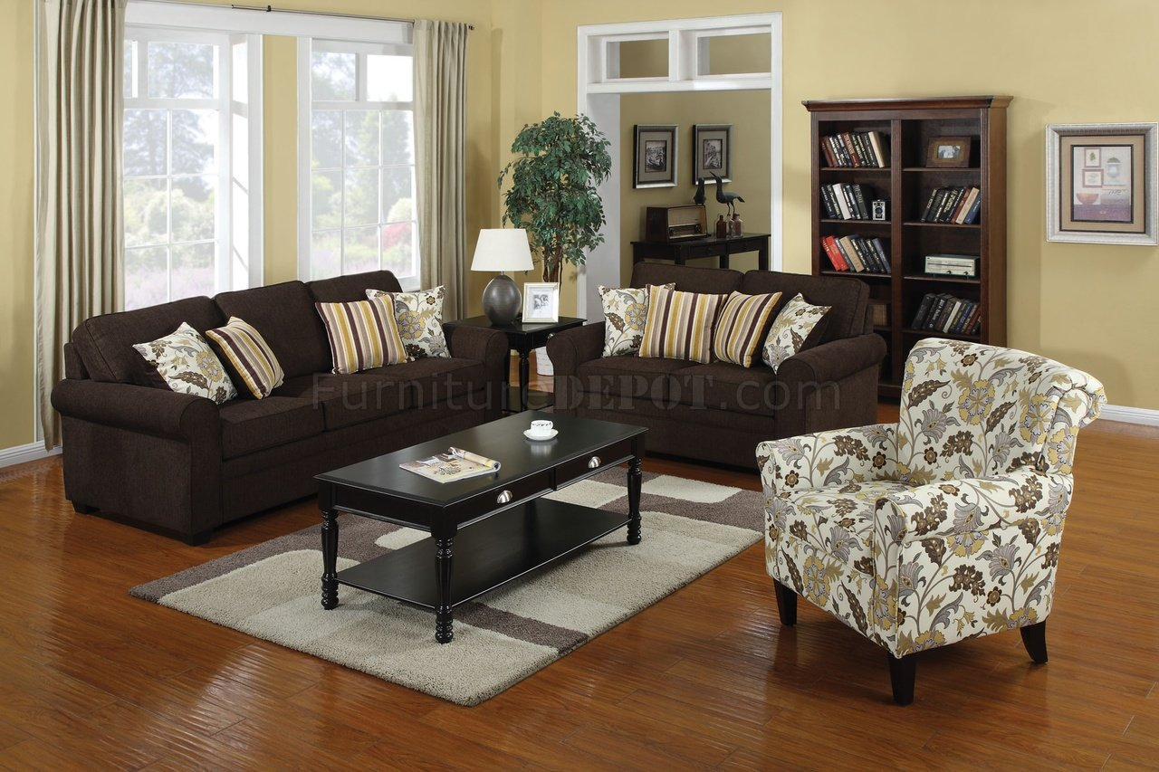 Accent Chairs To Go With Brown Leather Sofa 504241 Rosalie Sofa In Dual Colored Fabric By Coaster W Options