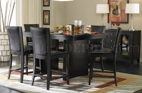 Sectional Sofas With Recliners 710-36sq Counter Height Dining Table Espresso W/options