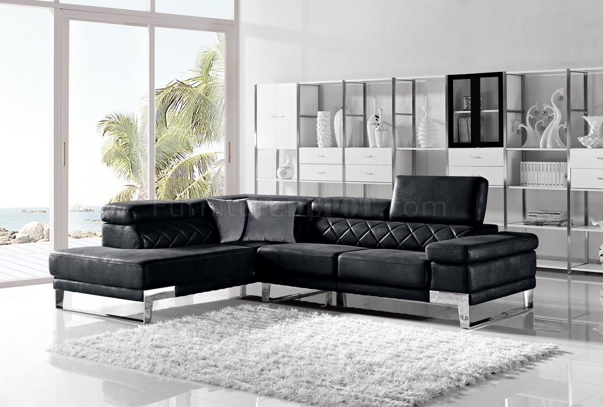 Fabric Sectional Sofas Canada 1263 Arden Sectional Sofa In Black Fabric By Vig