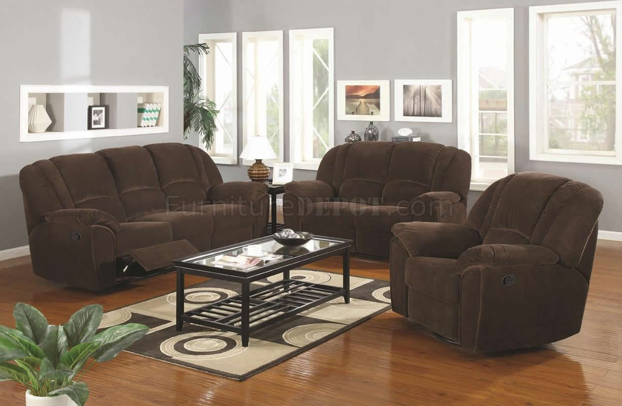 Brown Sofa And Loveseat Sets Brown Microfiber Modern Reclining Sofa Loveseat Set W Options
