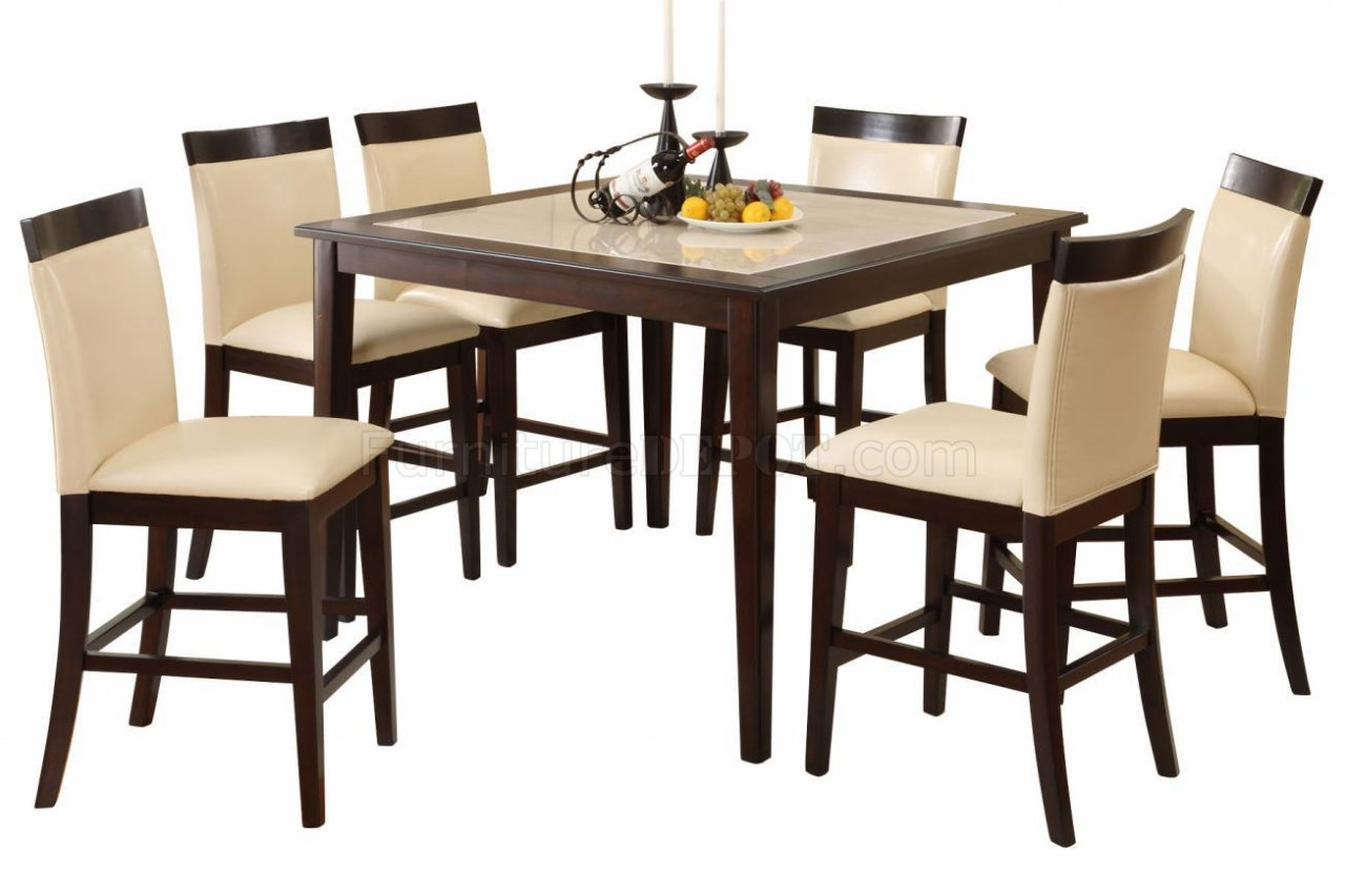 Dining Table Height Cm Cm3841pt Evious Ii Counter Height Dining Table W Options