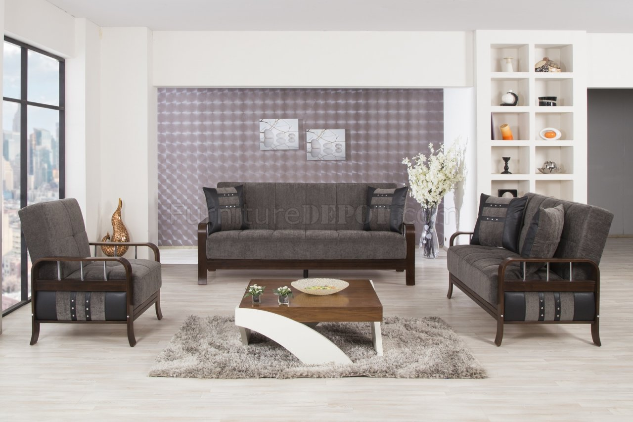 Studio Nyc Sofa Bed In Gray Fabric By Casamode W Options
