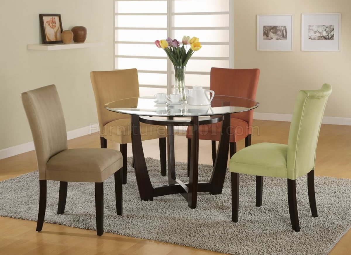 Lounche Dining Set Bloomfield Dinette 5pc Set In Cappuccino By Coaster