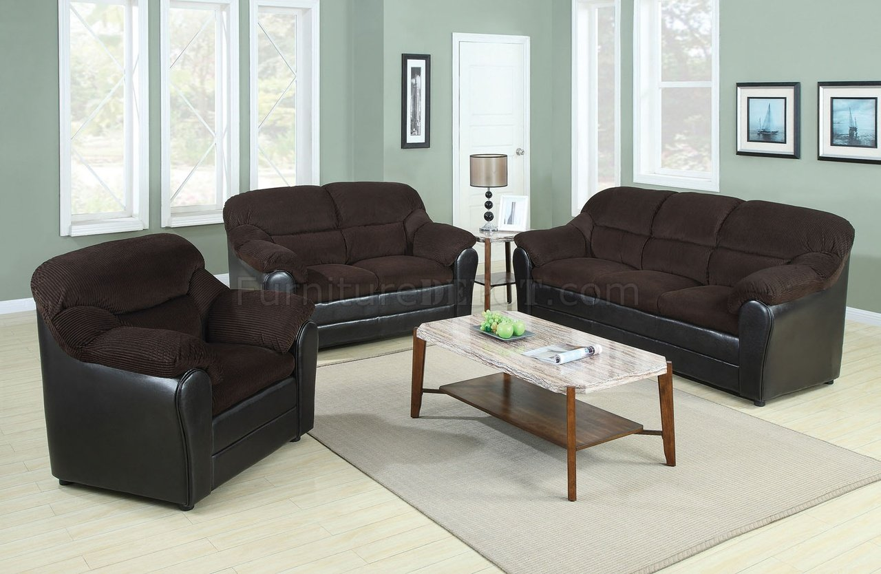 Chocolate Corduroy Sofa 15975 Connell Sofa In Chocolate Corduroy Espresso Pu By Acme