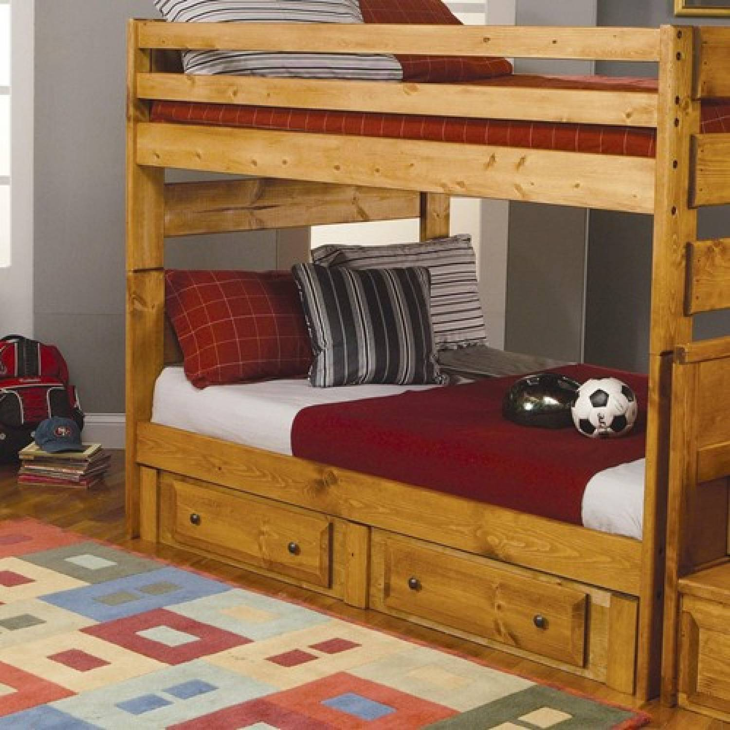 Pull Out Bed Under Bed Wrangle Hill Full Over Full Bunk Bed With Pull Out Trundle