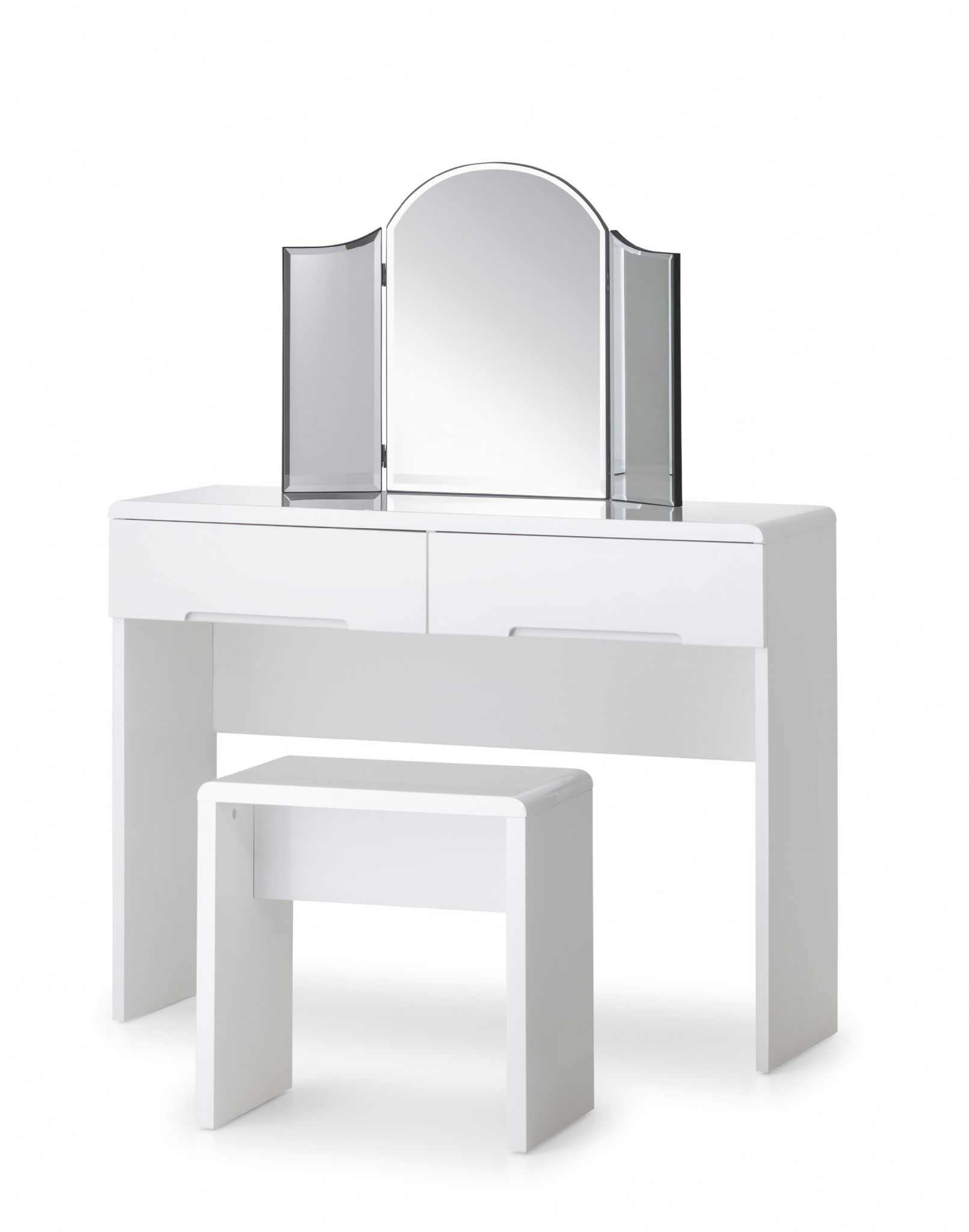 White Gloss Drawers Alzira White High Gloss Dressing Table With 2 Drawers Jb316