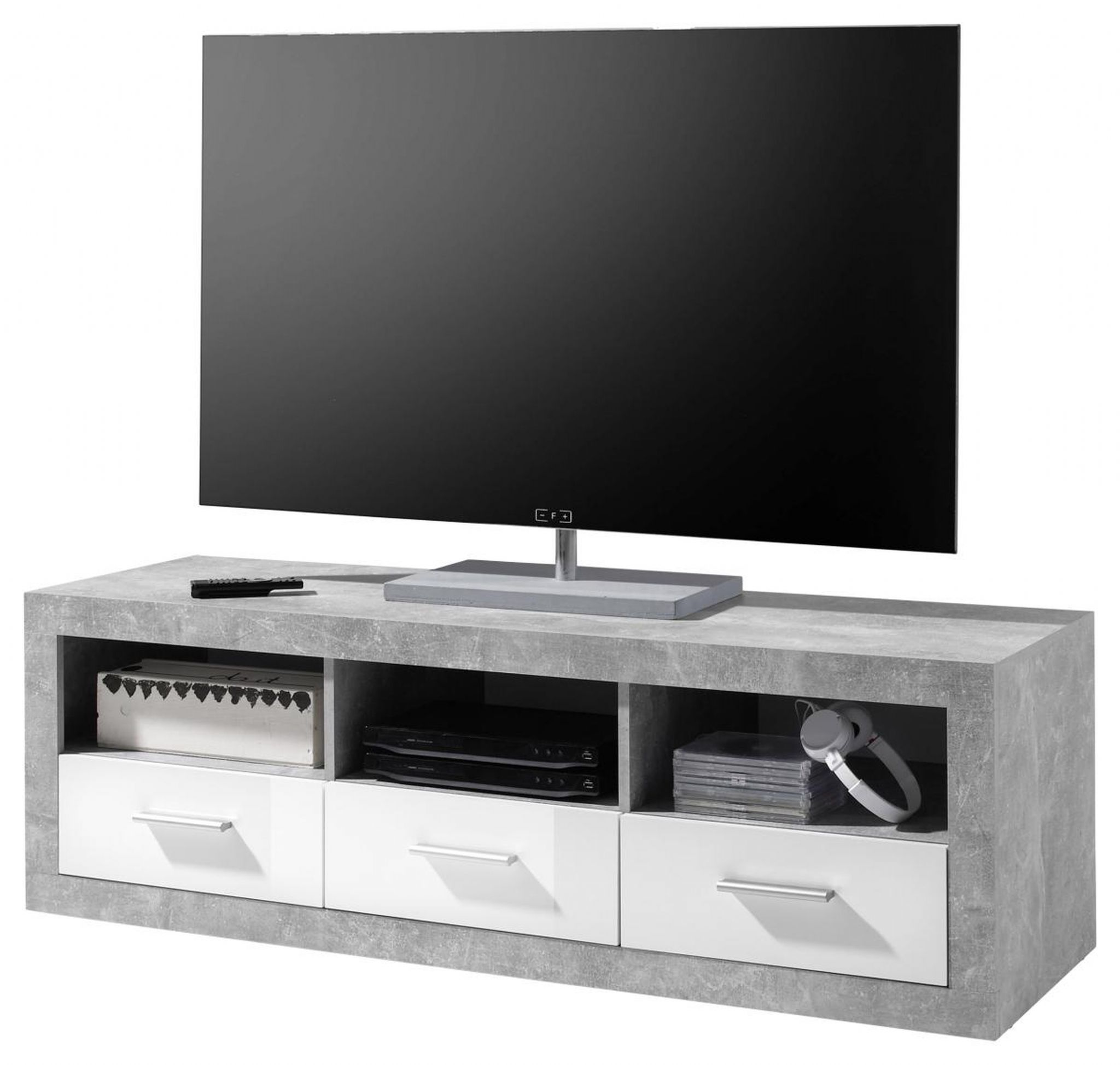 White Gloss Drawers Greystone Grey And White Gloss Tv Cabinet With Drawers 2700