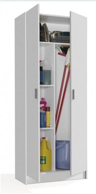 Meuble Range Balai Et Aspirateur Tall Utility Cupboard | Laundry Room And Cleaning