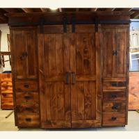 Wardrobe barn door entertainment cabinet | Furniture From ...