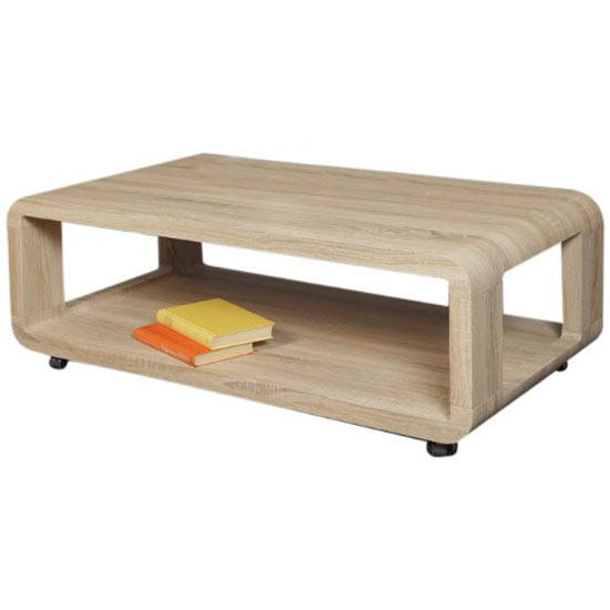 Couchtisch Sonoma Alina I Sonoma Oak Finish Coffee Table With Undershelf